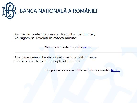 bnr A Román Nemzeti Banknak nem futja hostingra?