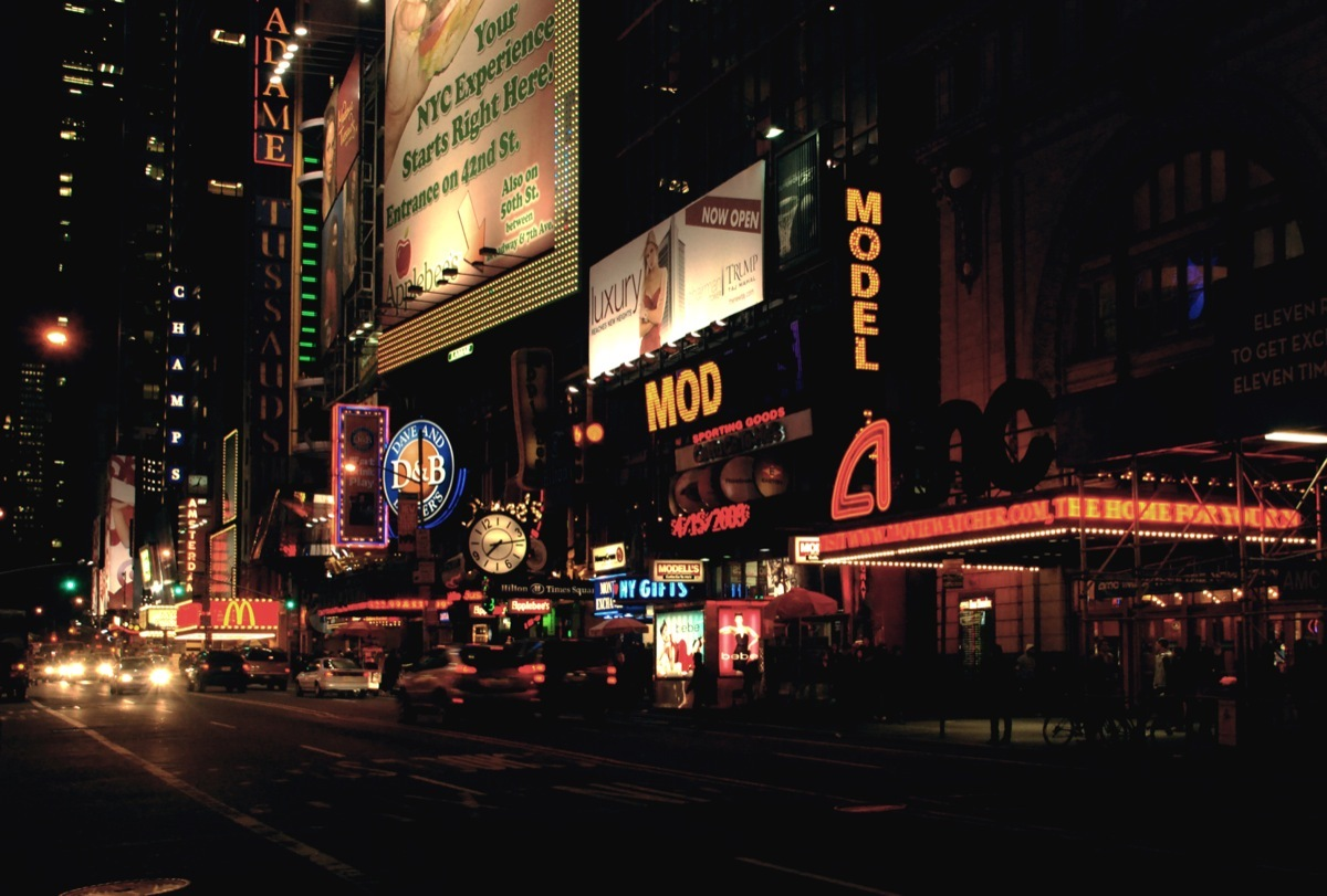 timessquare 2 new New York City : 1961 vs. Today
