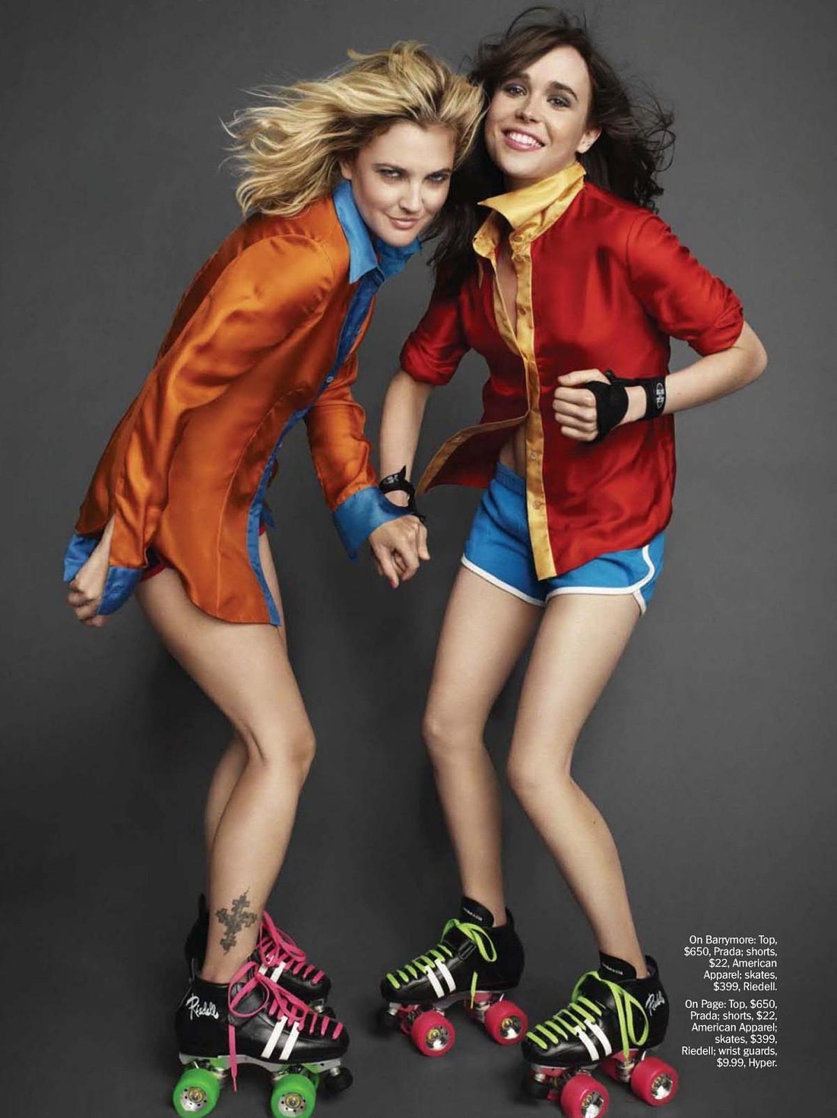 Drew Barrymore x Ellen Page