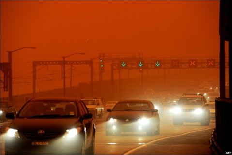 red dust storm sydney 23rd sept 11