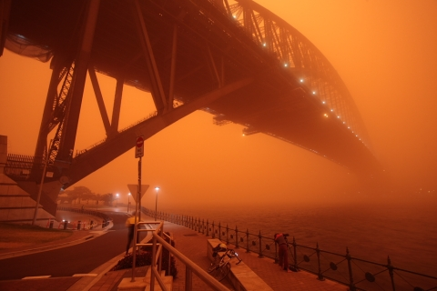 red dust storm sydney 23rd sept 16