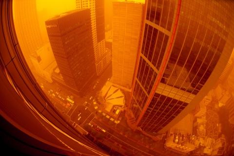 red dust storm sydney 23rd sept 6