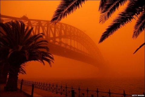 red dust storm sydney 23rd sept 9